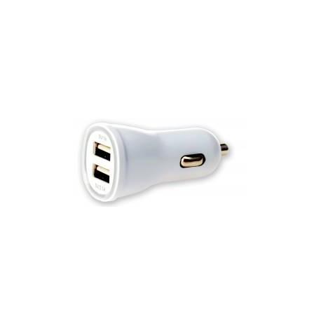 CARICABATTERIE USB A DUE USCITE2,1A 5V CON FINITURA CROMATA