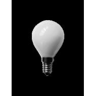 Lampadina a led, vetro, 230 V, 4 W, luce calda, base E14