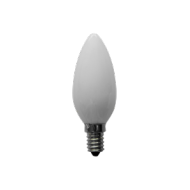 Lampadina led 230 V, vetro, oliva, 4 W, base E 14, luce calda