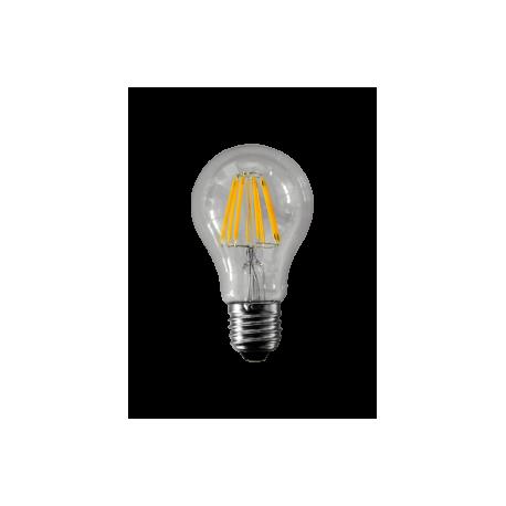 Lampadina 230 V, filamento led, 8 W, luce calda, base E27