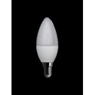 Lampadina led 230 v, oliva, 6 W, luce calda, base E 14