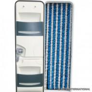 Tenda ciniglia bianco/blu 56x200