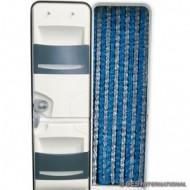 Tenda ciniglia grigio/blu 56x200