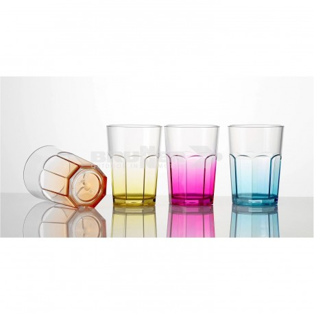 Set 4 bicchieri Octoglass Color