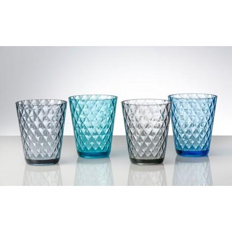 Set 4 bicchieri Diamond