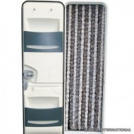 Tenda ciniglia bianco/grigio 56x200