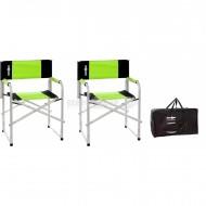 Set 2 pz Sedie da Regista Bravura colore verde