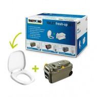Toilet Fresh-Up Set C200 con maniglia e  rotelle