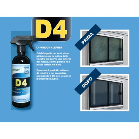 D4 WINDOW CLEANER DETERGENTE VETRI 500 ML