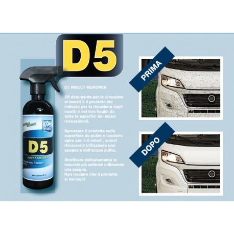 D5 INSECT REMOVER DETERGENTE RIMOZIONE INSETTI 500 ML