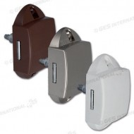 Push-lock unilaterale marrone