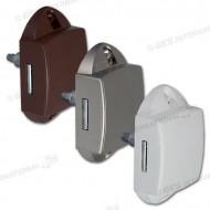 Push-lock unilaterale bianco