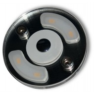 Plafoniera rotonda a Led 2,2 W con luce notturna blu diam. 70mm