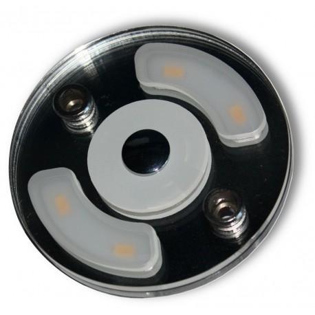 Plafoniera rotonda a Led 2,2 Wcon luce notturna blu
