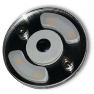 Plafoniera rotonda a Led 4,7 W con luce notturna blu diam. 130mm
