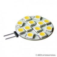 Lampadina 12 LED G4 bianco caldo
