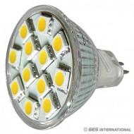 Lampadina MR11 12 LED bianco caldo