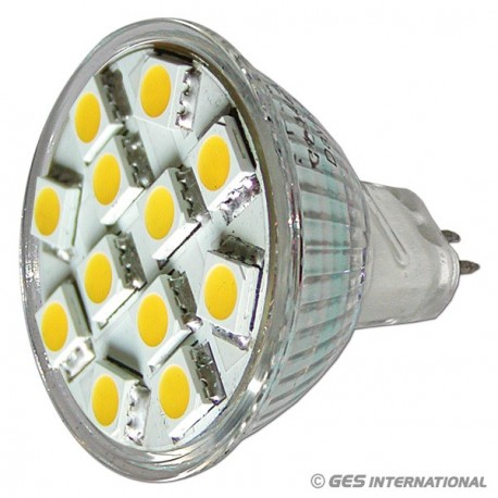 Lampadina MR11 12 LED bianco caldo
