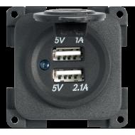 BMP2USB PRESA DOPPIA USB 5V GRIGIA