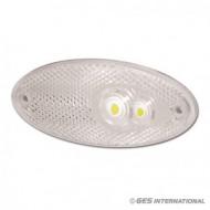 Luce di ingombro ovale ant. bianca led