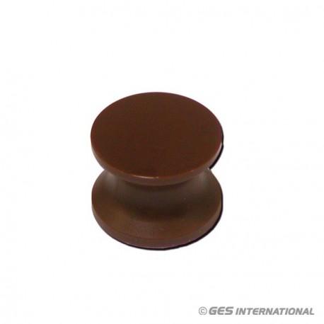 Pulsante marrone
