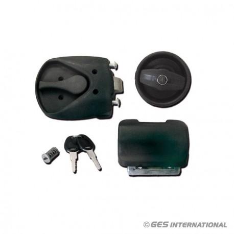 Serratura nera completa con chiavi