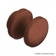 Mini pulsante marrone