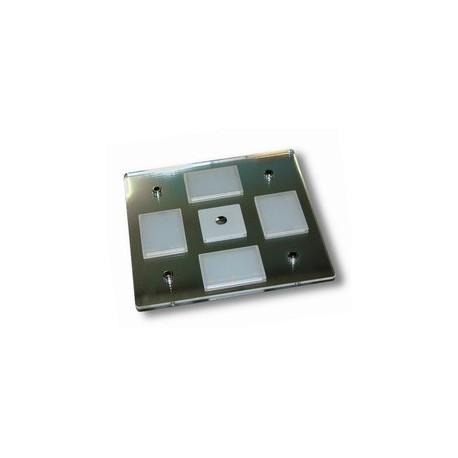 Plafoniera quadrata a led 12 W