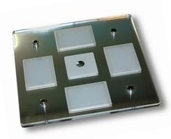 Plafoniera Quadrata Da Esterno Led : Dimatec plafoniera quadrata a led w