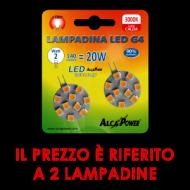 Blister 2pz Led Bispina G4 Luce Calda